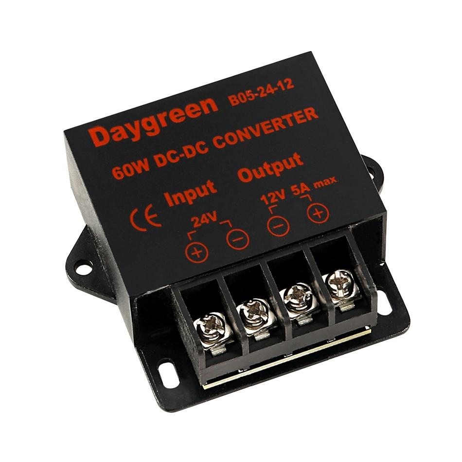 Автомобильный понижающий преобразователь постоянного тока, редуктор регулятора с 24 В на 12 В, 5 А, регулятор постоянного тока