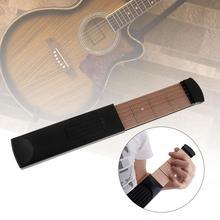 Guitar Finger Trainer 6 String 4 Fret Portable Pocket Guitar Practice Tool Chord Trainer Model for Beginner Pocket guitar