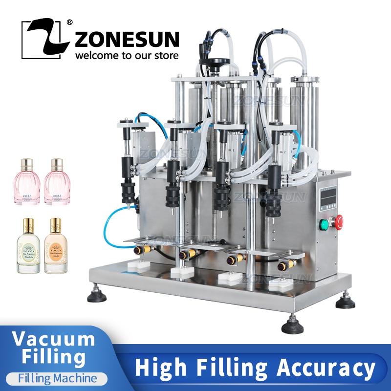ZONESUN شبه التلقائي سطح المكتب فراغ وحدة حشو سائل زجاجة ماء قارورة ماكينة تعبئة العطور