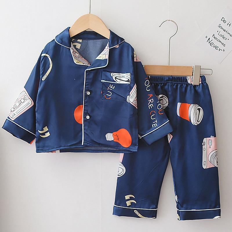 Пижама для новорожденных; 2021; Сезон весна осень; Новый хлопковый комплект детской одежды; Одежда для девочек; Семейный комплект футболок с длинными рукавами, детская одежда Пижама для мальчиков От 1 до 5 лет|Комплекты пижам| | АлиЭкспресс