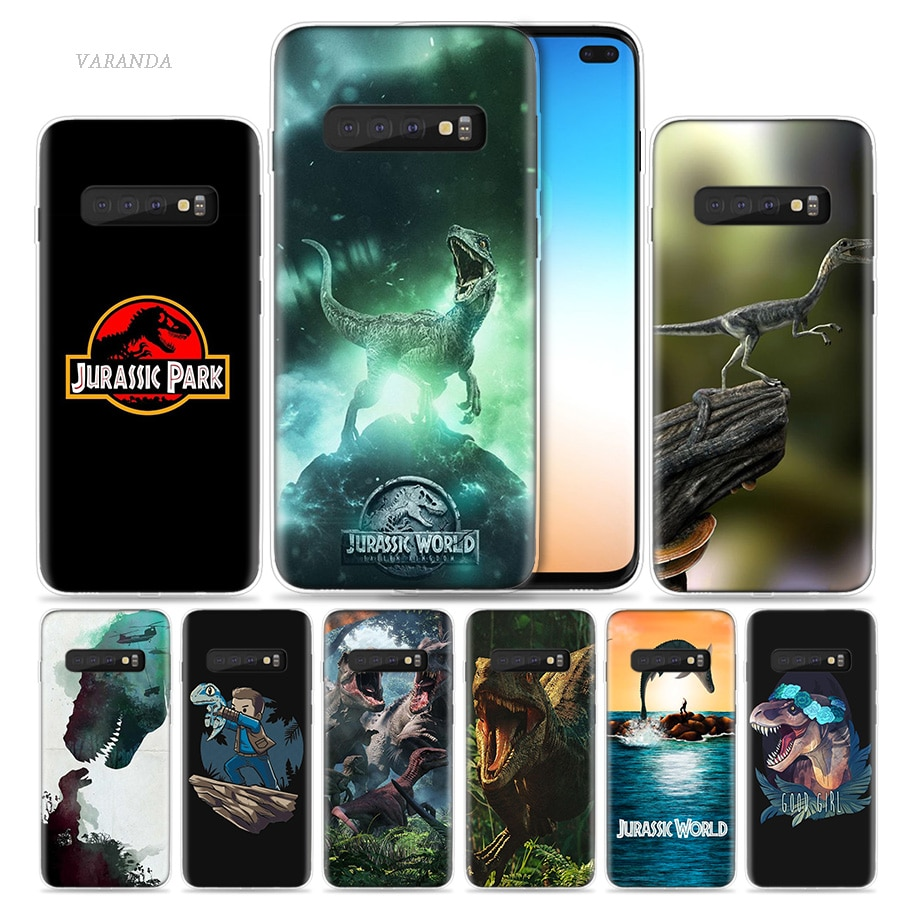 Mundo Jurásico Parque caso para Samsung Galaxy S10 5G S10e S9 S8 Nota 10 8 9 J4 J6 Plus m40 M30 M20 M10 teléfono Coque Sac película