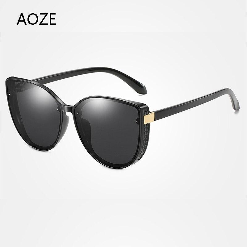 ¡Novedad de 2020! gafas de sol Punk para mujer con marco grande, gafas de sol polarizadas con espejo retro a la moda, gafas de sol vintage lunette soleil femme UV400