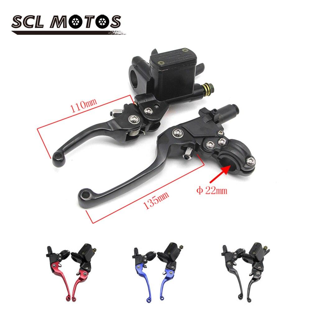 SCL MOTOS 1 par 22mm 7/8 palancas de embrague de freno de motocicleta disco freno bomba Universal ajustable ASV para HONDA KAWASAKI YAMAHA