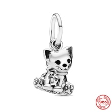 XNMY 2021 New 925 Sterling Silver Cute Animal Cat Charm Beads For Women Gift Fits Original Pandora C