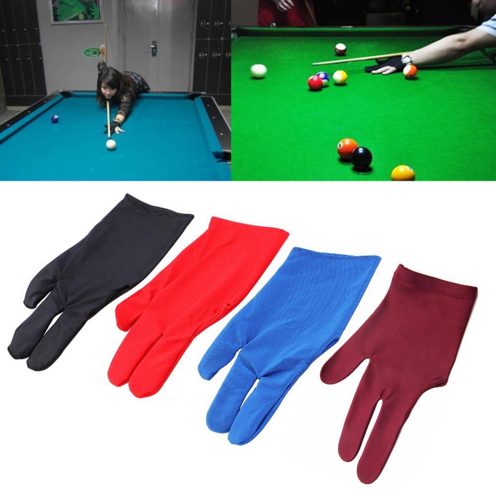 Durable Nylon Pool Snooker Cue Shooter black 3 Fingers Glove for Billiard