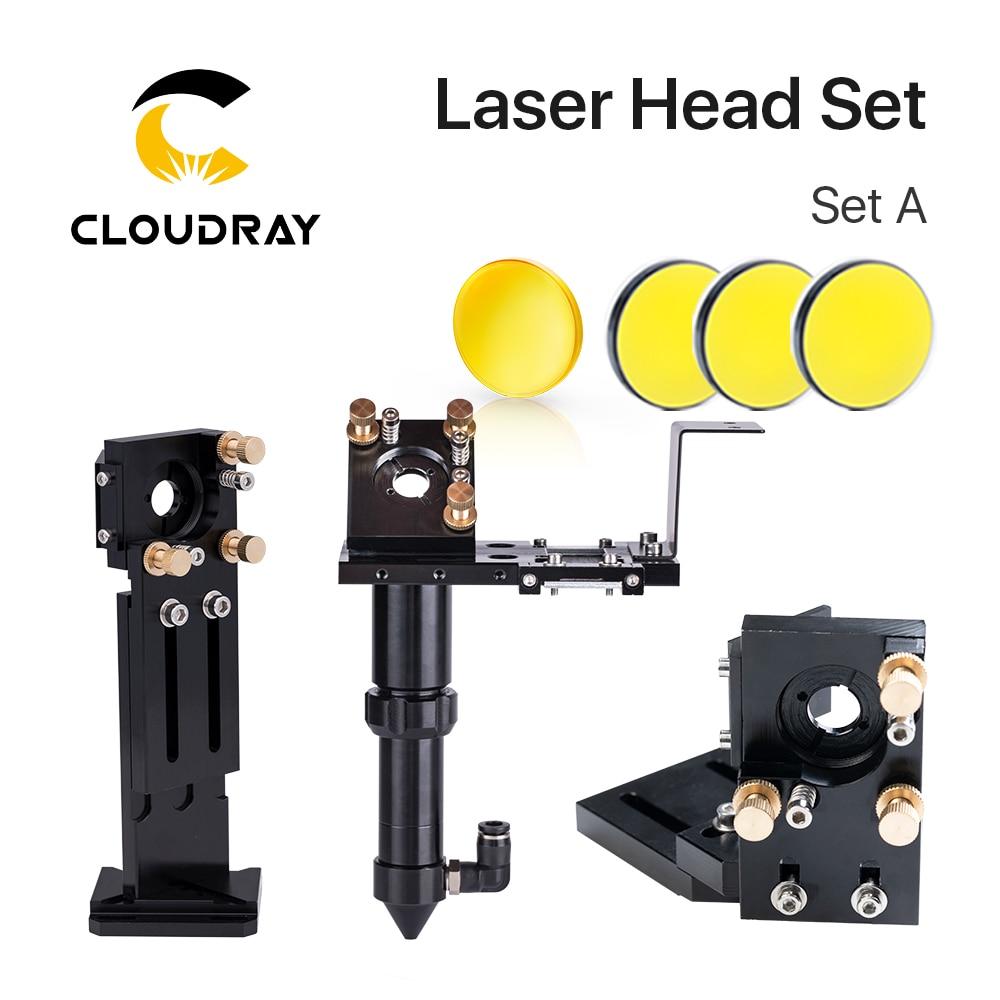 Cloudray-مجموعة رأس ليزر CO2 ، قطر 18 مم ، FL38.1 و Dia.20 FL50.8/63.5/101.6mmZnSe ، مرآة لآلة النقش بالليزر