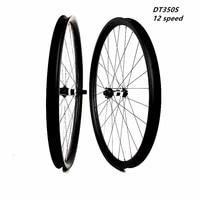 carbon mtb disc wheels xc 35x25mm asymmetry tubeless 27 5er mtb disc bicycle wheelset 12 speed pillar1420 dt350s 110x15 148x12