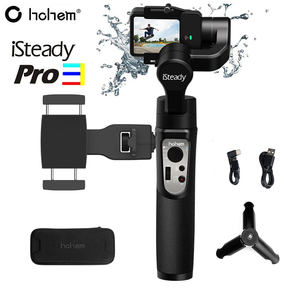 Hohem iSteady Pro 3 / Pro 2 брызгозащищенный 3-осевой карданный стабилизатор для экшн-камеры GoPro Hero 8/7/6 DJI Osmo RX0 SJCAM