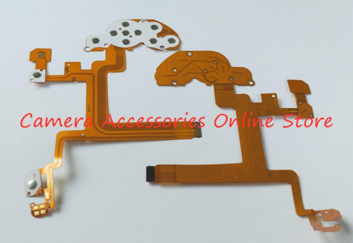 Función de teclado botón cinta de Cable Flex junta para Nikon D5300 pieza de reparación para cámara Digital