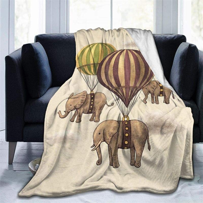 رحلة من الفيلة الخردل رمي بطانية ثلاثية الأبعاد طباعة على الطلب Sherpa سوبر مريحة ل أريكة رقيقة لحاف تكييف الهواء