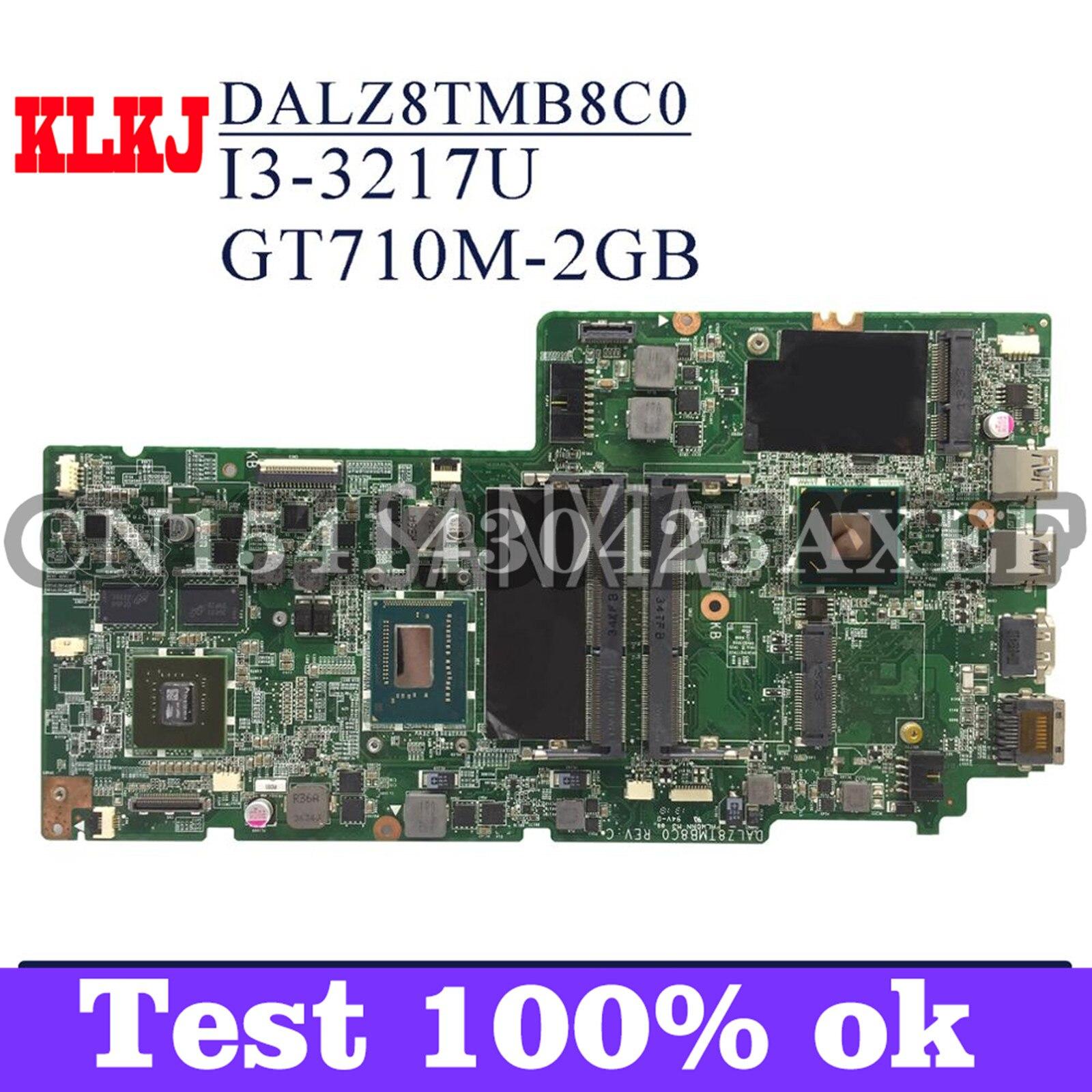 KLKJ DALZ8TMB8C0 اللوحة الأم لأجهزة الكمبيوتر المحمول لينوفو Ideapad U410 اللوحة الرئيسية الأصلية I3-3217U GT710M-2GB
