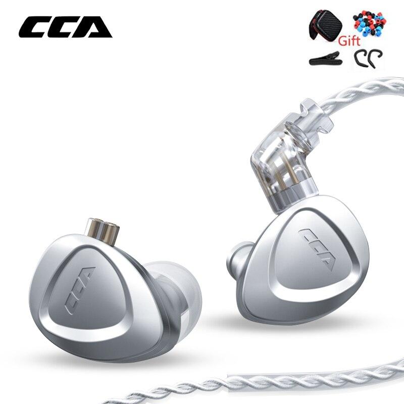 Fones de Ouvido Fone com Cancelamento 1dd + 6ba Híbrido Metal Alta Fidelidade no Monitor Baixo Ruído Zsx Zax vx C12 V90 Cca Ckx