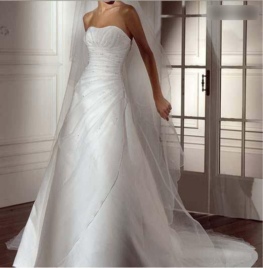 Длинные атласные свадебные платья макси кутюр без бретелек со шлейфом для часовни на заказ и бисером на заказ свадебные платья на заказ