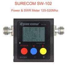 Nuovo SURECOM SW-102 meter 125-520 Mhz Digital VHF/UHF Power & SWR Meter SW102 Per Due Vie radio