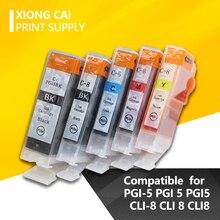 5 pièces Cartouches Dencre Compatibles PGI-5 CLI-8 PGI5 CLI8 pour Canon PIXMA iP4200 iP4300 iP4500 MP500 iP5200 MP530 MP600 MP610 MP800