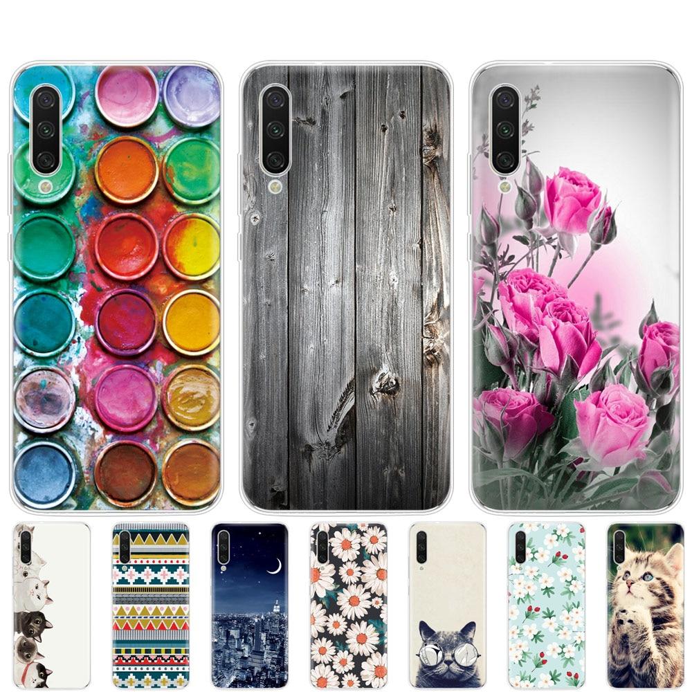 Funda de teléfono para Xiaomi MI A3, Funda suave de tpu, carcasa trasera de silicona para Xiomi MI A3, Funda a prueba de golpes, bonito gato