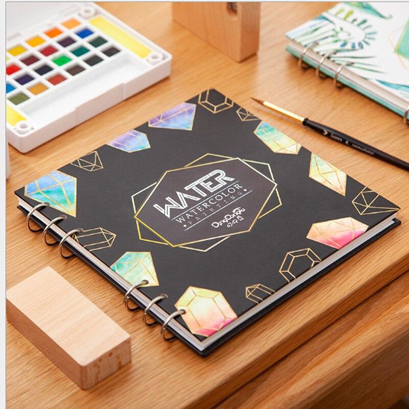 Альбом для рисования скетчей, альбом акварелью, плотная квадратная бумага рисования, творчества и граффити, Офисные К...