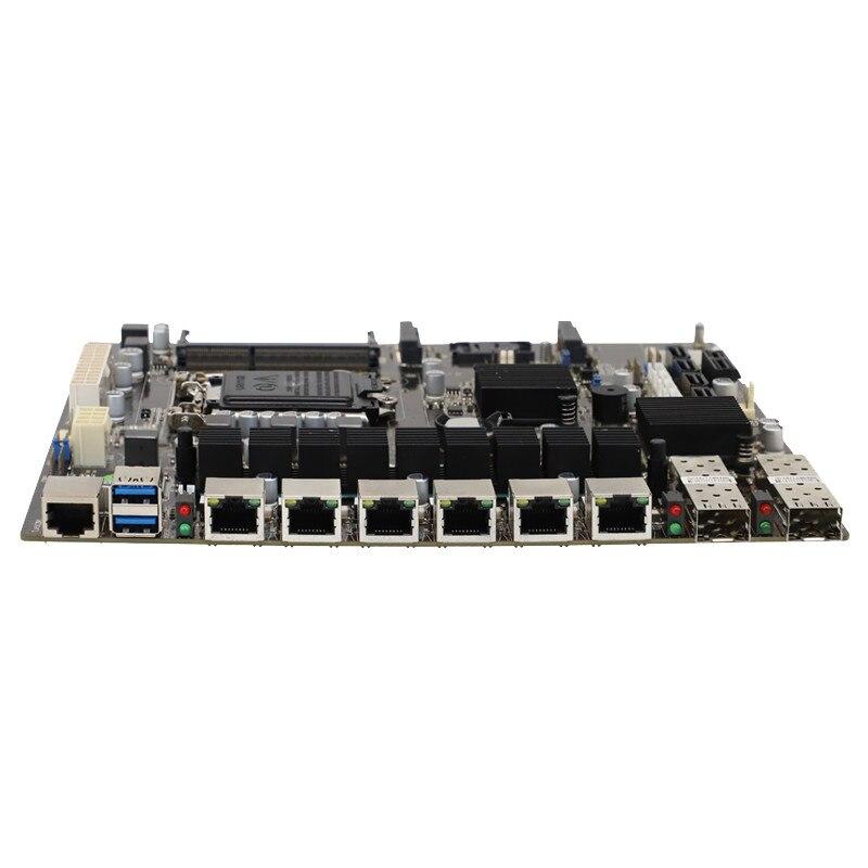 B85 المنفذ البصري لينة توجيه اللوحة الصناعية لوحة أم للكمبيوتر جهاز التوجيه المؤسسة الكبيرة 6-port جيجابت المزدوج 10 جيجابت