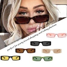 New Rectangle Sunglasses Women Fashion Small Square Frame Vintage Clothing Sun Retro Glasses Shades