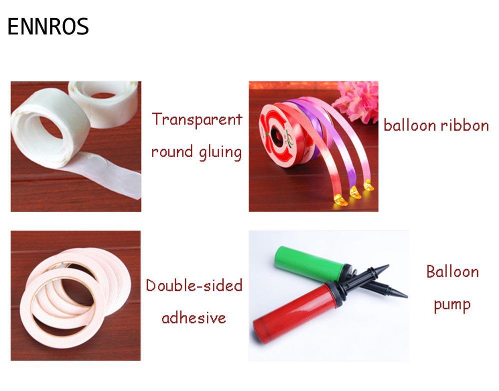 Balão bomba balão acessórios mão push mini inflator plástico bomba de ar portátil colorido fita dupla face cola redonda