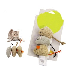 3pcs/set New Cat Toy Mouse Long Tail Fur Mice Toys Cat Products Randomly