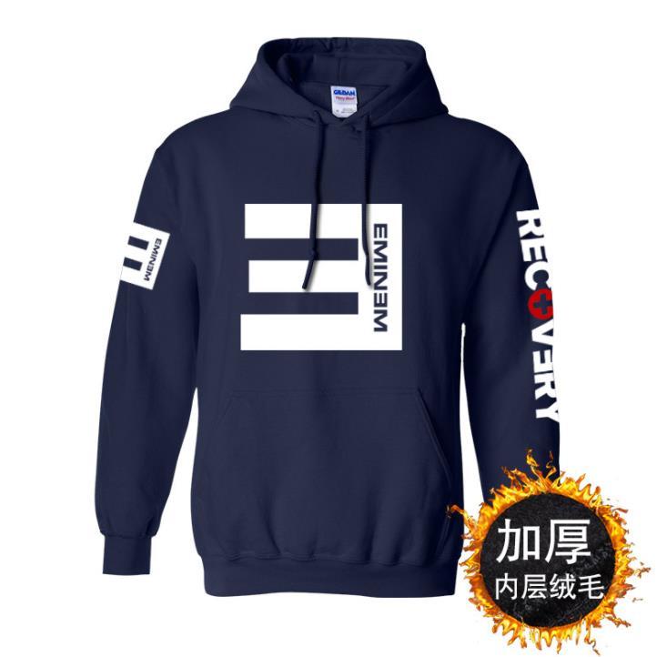 Sudadera con capucha Eminem para hombres Sudadera con capucha Rap God Hip Hop de algodón con forro polar abrigo de alta calidad S-3XL