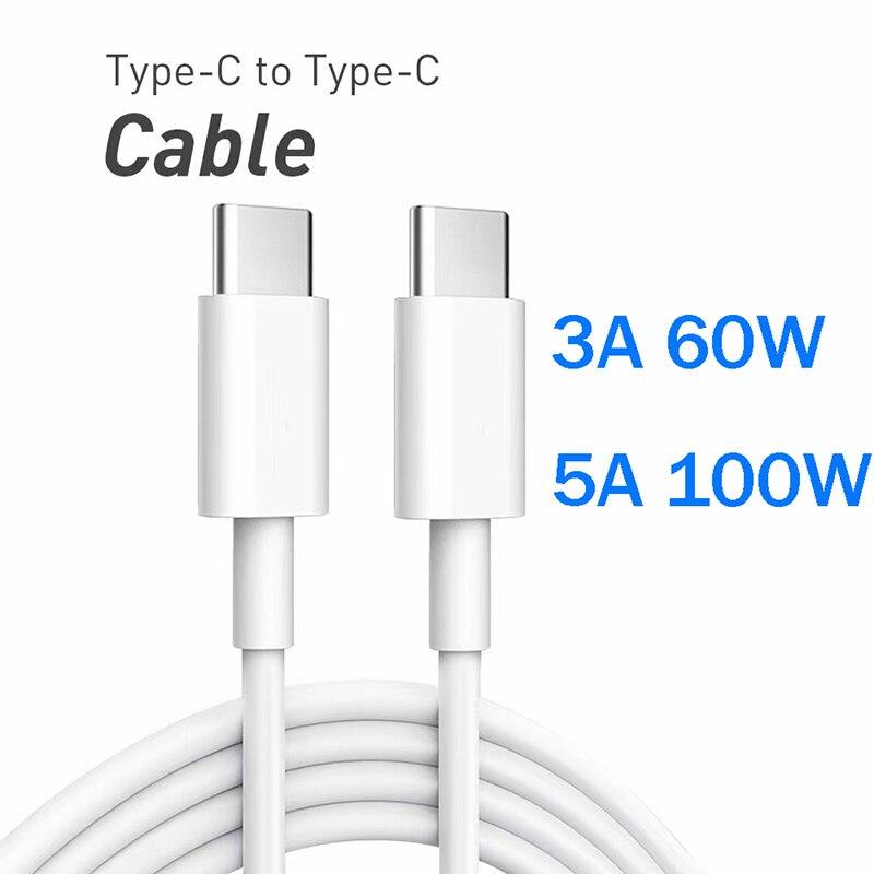 Cable USB C a tipo C para Samsung S20 Macbook iPad PD...