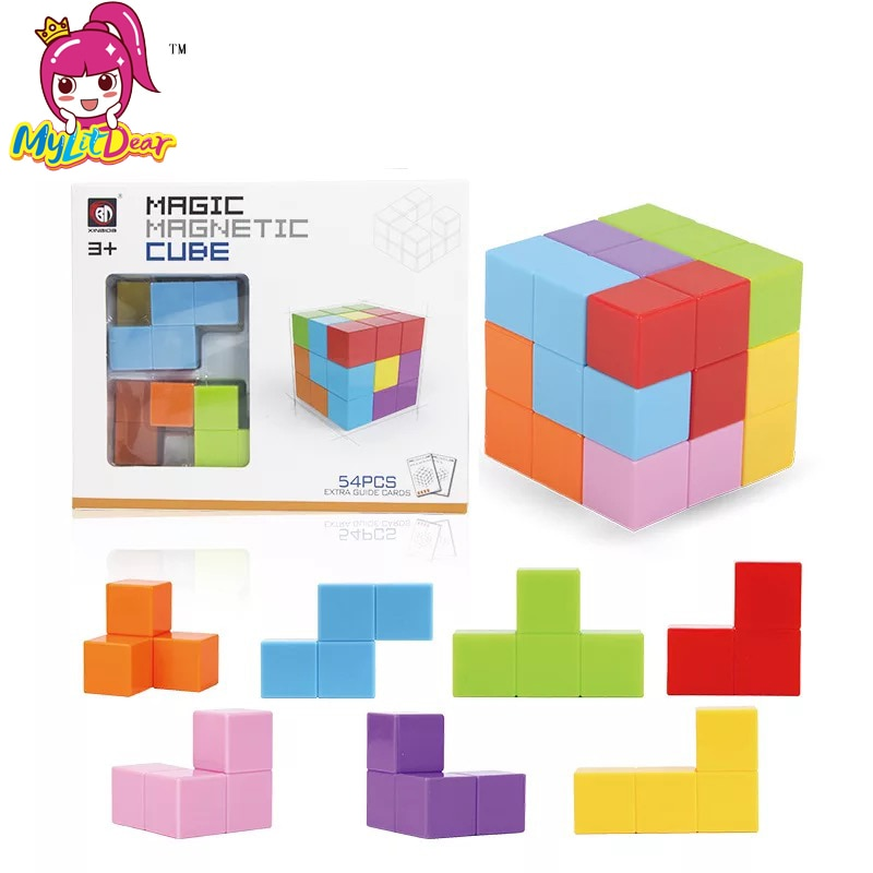 1pc Square Magnets Cube Magnetic Tiles for Kids Educational Toys Stress Relief Games Intelligence toys Magnetic Building Blocks