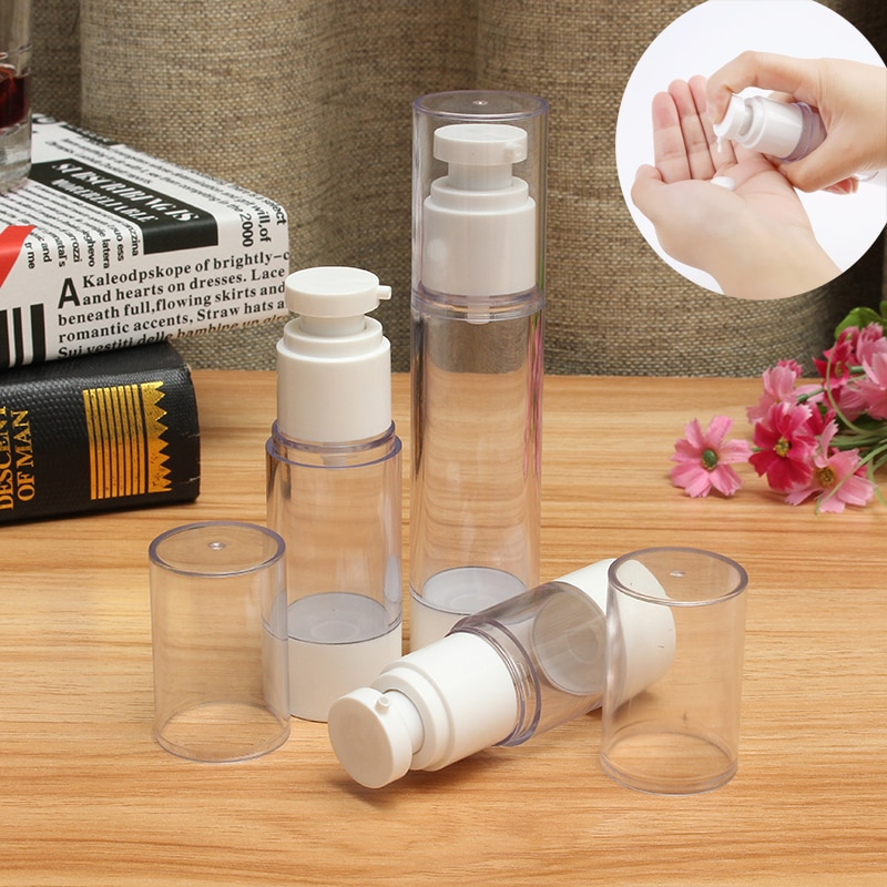 1 шт 15/30/50/80/100 мл портативный белый вакуумный пресс-насос безвоздушная пустая бутылка косметический контейнер для лосьона спрей дорожный косметический флакон
