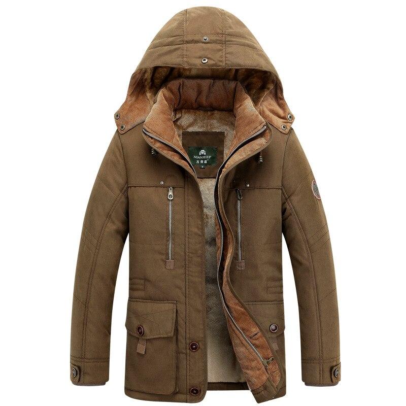 men's cotton coat men's loose plus velvet thick tops plus fertilizer to increase youth warm men's clothing