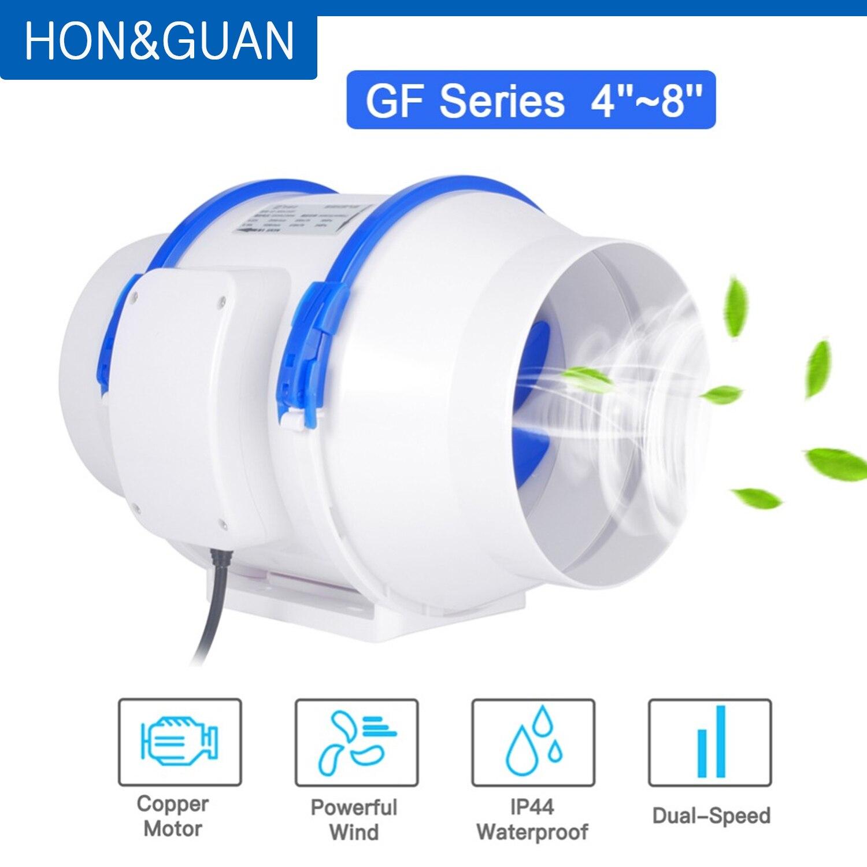 Бесшумный настенный вентилятор Hon & Guan, экстрактор воздуха 220 В, 110 В, вытяжной вентилятор, для дома, ванной, кухни | Бытовая техника | АлиЭкспресс
