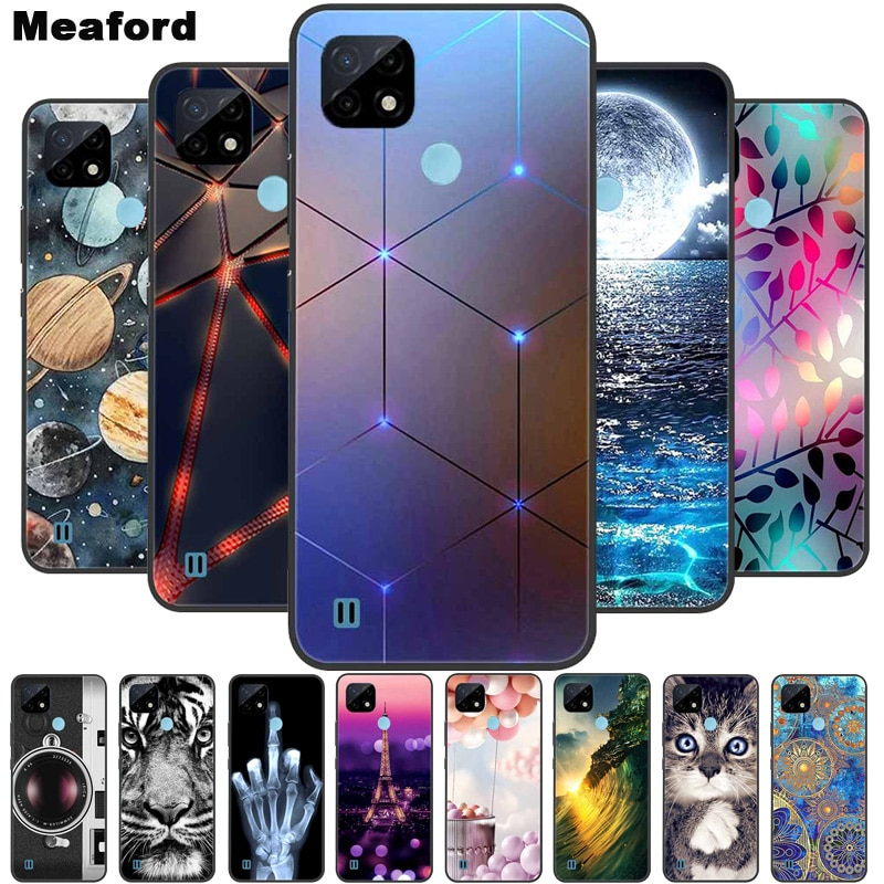 For Realme C21 Case Shockproof Soft silicone TPU Back Cover For OPPO Realme C21 Phone Cases Realme C