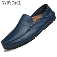 2021 Leather Shoes Men Loafers Driving Loafers Men Genuine Leather Warm Comfortable Men Shoes Casual