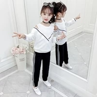 girls sport suit teenage autumn girls clothes set long sleeve tops pants casual 4 6 7 8 9 10 11 12 years child girl clothes