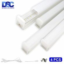 4 teile/los LED Rohr T5 T8 Lampe 5W 29cm 10W 58cm LED Schrank Licht 220V 230V 240V PVC Licht Rohr Küche Bar Beleuchtung Streifen