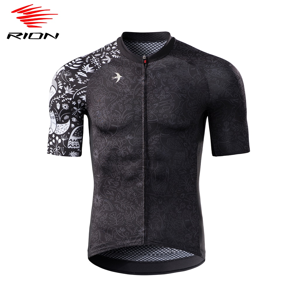 RION-Camiseta de manga corta de Ciclismo para hombre, camiseta transpirable de secado...