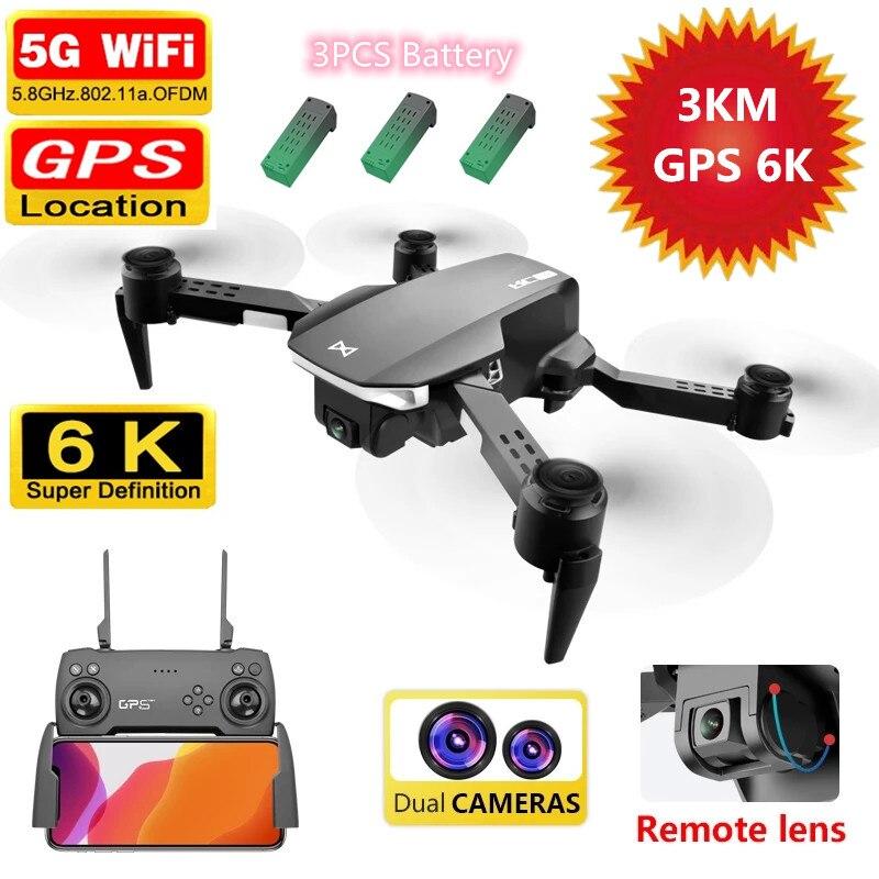 5G 6K GPS Drone With 6K Dual Camera 3000M Control Distance Professional Quadcopter GPS Position Smart Follow Aricrafts VS F5 E58