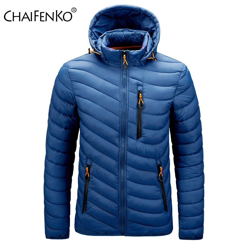 CHAIFENKO Brand Winter Warm Waterproof Jacket Men 2020 New Autumn Thick Hooded Parkas Mens Fashion Casual Slim Jacket Coat Men