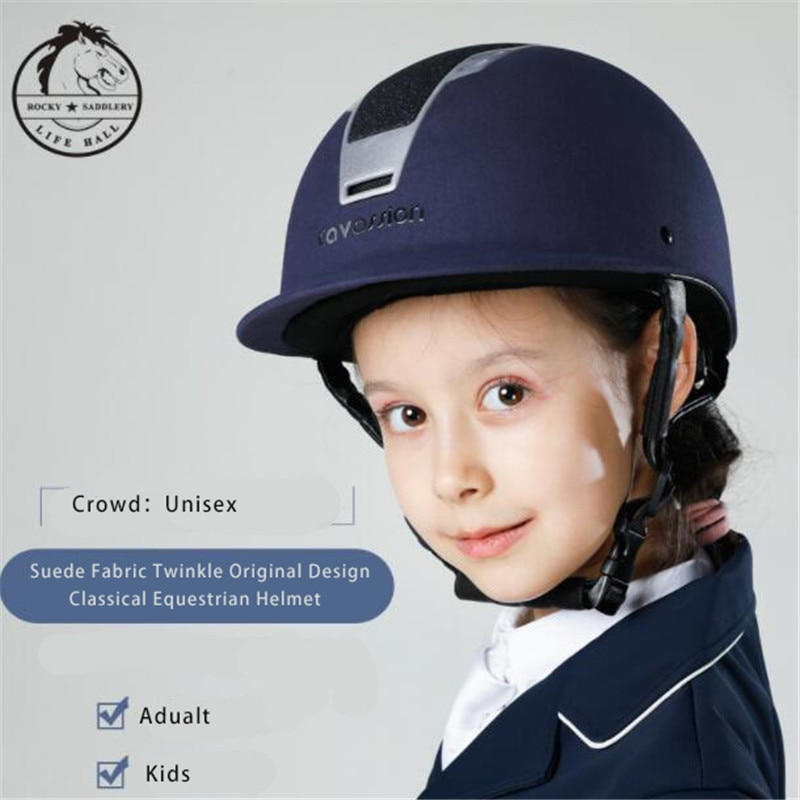 Cavassion Horse Riding Equestrian Helmet Professional Suede Fabric Body Protector Adjustable Circumference and Helmet Dept