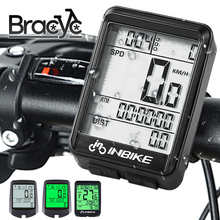 Waterproof Bicycle Computer Wireless/Wired MTB Bike Cycling Odometer Stopwatch Speedometer LED Digital Rate Measurable Counter