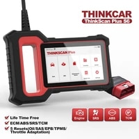 thinkcar thinkscan plus s6 obd2 scanner ecmtcmabssrs systems 28 resets car code reader diagnostic tools automotive scanner