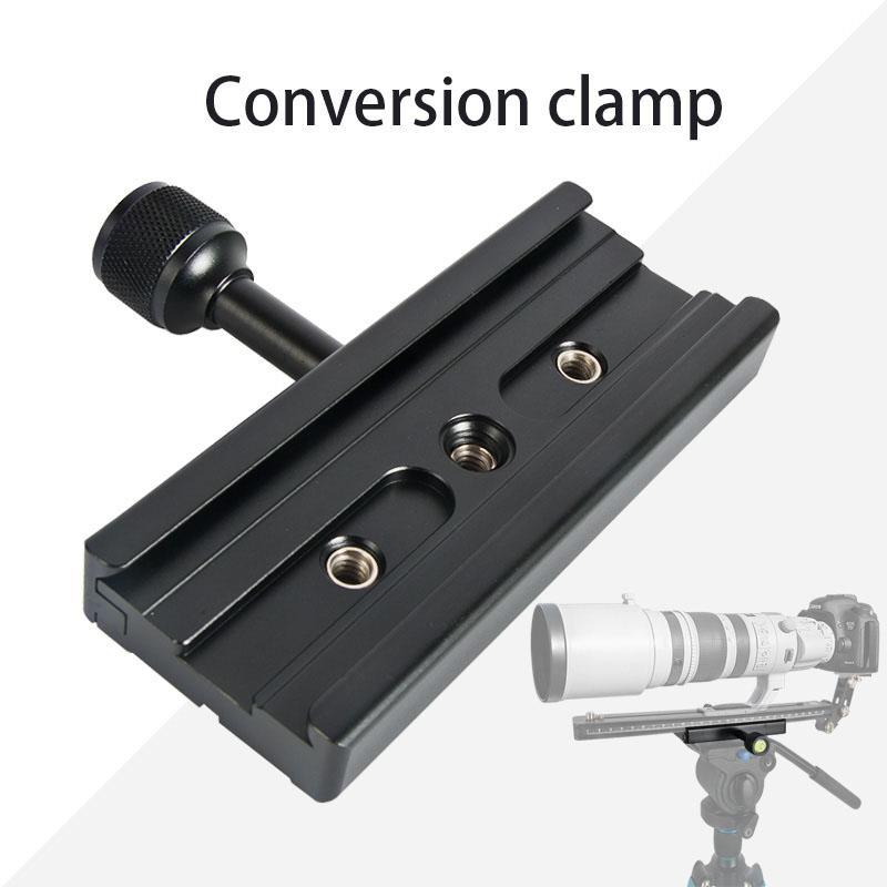Abrazadera de aleación para adaptador de abrazadera de QR-120 de placa de liberación rápida para placa de liberación rápida 1/4 pulgadas 3/8 pulgadas