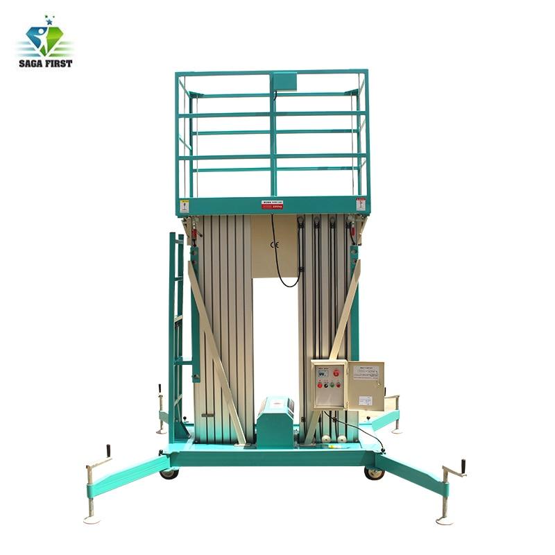 10m mástil doble de aluminio aleación Aloft plataforma hombre ascensor Promoción de fábrica