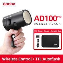 Godox AD100Pro 100Ws TTL 2,4G Вспышка для фотокамер Speedlite HSS 1/8000s эксклюзивная карманная вспышка светильник с 7,2 V/2600 мА/ч, литий Батарея 360 Полный Мощность ...