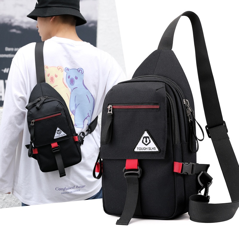 multifunction small backpack crossbody bag waterproof men chest bag 11 inch laptop ipad shoulder bag men s chest pack Weysfor New Men Waterproof Crossbody Bag Anti-theft Shoulder Sling Bag Multifunction Short Travel Messenger Chest Pack For Male