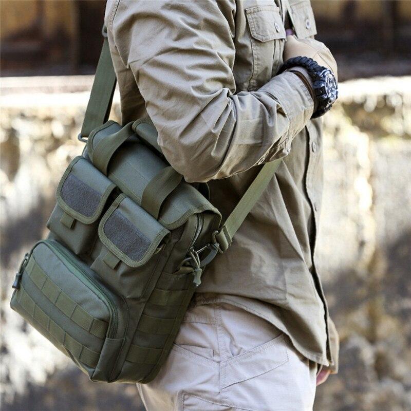 Militar funda táctica molle bolsos de hombro hombre impermeable camuflaje solo cinturón saco bolsos mochila de caza