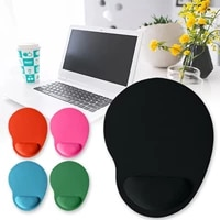 ergonomic pc computer laptop mouse pad non slip rubber wristband support comfortable office games dedicated desk pads