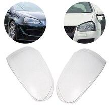 Clear Right/Left Car Housing Headlight Lens head light Lense Shell Cover Lamp Assembly For V w Golf Mk5 2005-2009 Car Accessorie