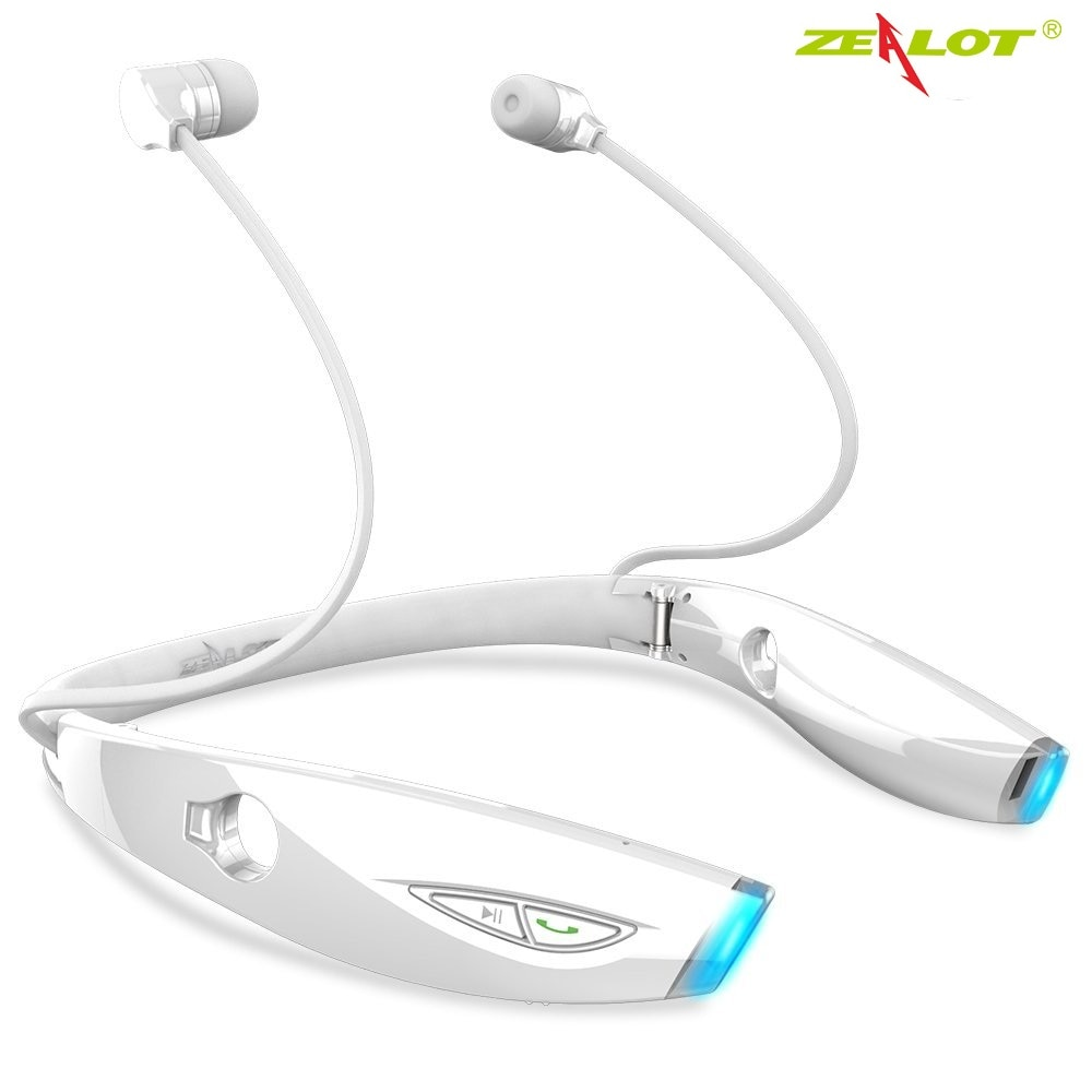 HOT ZEALOT H1 auricular Bluetooth deportes banda para el cuello auriculares inalámbricos auriculares Bluetooth a prueba de sudor plegable con micrófono para el gimnasio
