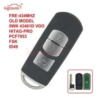 kigoauto old model hp434 mhz 5wk 43401d vdo smart key 3 button 434mhz for mazda